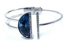 Glow Crystal Bangle, Blue Size Large 2017 Swarovski Jewelry #5295056