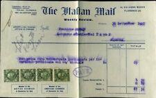 418347) Italien alte Rechnung mit Marken, Florenz 1927