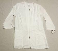 Maevn Women's Smart 3/4 Sleeve Double Zipper Lab Jacket 8803 Mp7 White Small Nwt