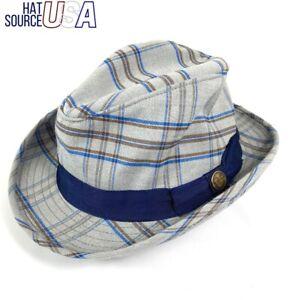 💲75 Goorin Bros Brothers Short Brim Fedora Sz S SMALL Men's Gray Dress Hat NWT