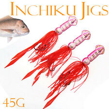 3x 45g Squid Inchiku Jig Micro Octo Jigs Fishing Lure Jigging Lead Snappers