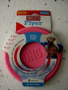 KONG PUPPY PINK FLYER FLEXIBLE RUBBER FRISBEE FOR PUPPIES SMALL NEW BNIP KP15E N