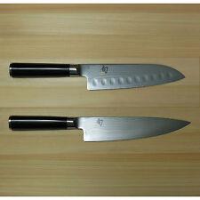 "New Shun Classic 8"" Chef/7"" Santoku Knife Set DM0706/DM0718 Kai Japan Damascus"