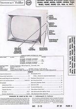 1955 Service Photofact w-Schematic CROSLEY CKMF TKBF H-21HKBF 466 466A 467 TV