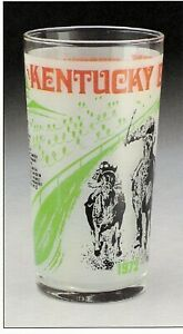 1972 - 98th Kentucky Derby glass in MINT Condition - RIVA RIDGE
