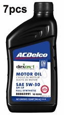 Pack of 7 Quarts Full Synthetic SAE 5W-30 Dexos 1 Gen 2 ACDELCO 109246 / 109230