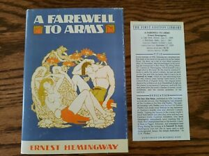 A Farewell To Arms by Ernest Hemingway - First Edition Library - FEL - Facsimile
