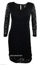 H&M Round Neck 3/4 Sleeve Lace Dresses for Women