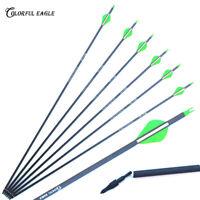 "30/"" Archer Carbon Arrows Hunting SP300//400 Removable Tip Recurve Compound Bow"