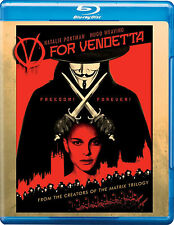 V For Vendetta Blu-ray Disc Comic Movie Natalie Portman Hugo Weaving Alan Moore
