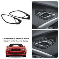 2pcs Carbon Fiber Car Door Handle Panel Cover Trim For Chevrolet Camaro 2017-19