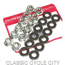 HONDA CB 500 550 Four écrous Set Joint de Culasse Cylinder Head Nuts Washer Kit Set