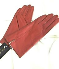 Exquisite Pillar Box Red Leather Womens Gloves | Size Medium (8.5)  | New Tags