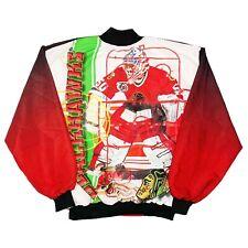 Rare Custom NHL Chicago Blackhawks Fanimation All Over Print Jacket. Mens Large