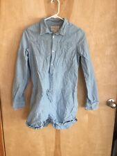 Ralph Lauren girls blue Chambray  shirt shorts romper size 16 NWOT