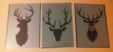 Shabby Chic Stencil pack A6 (148x105mm) Stag Deer Head selection Plastic sheet