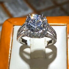 2.65Ct Round Cut Moissanite Solitaire Prong Engagement Ring Solid 14K White Gold