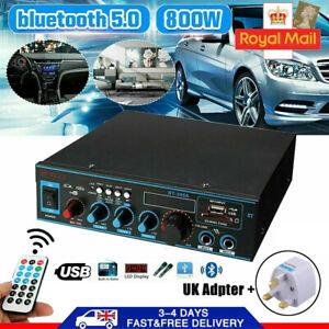 800W HiFi bluetooth Digital Power Amplifier Mini Stereo Audio Amp Car Home 12V/