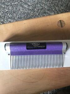 New Resco Professional Wrap Comb Medium Purple Sparkle Pet Dog Cat Horse Groom