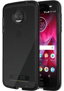 Tech21 Black Smoke EVO Check Anti-Shock Case Cover for Motorola Moto Z2 Force