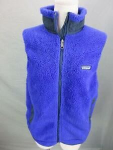 Patagonia Size S Womens Purple Teflon Membrane w/Pocket Sherpa Fleece Vest T960