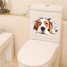 Funny 3D Beagle Dog Toilet Sticker | Cute Puppy Pet Bathroom Decor Animal Decal