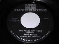 David Thorne: The Alley Cat Song / The Moon Was Yellow 45