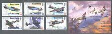 Guernsey-D-Day & Battle of Britain-World War II-Aviation mnh-min sheet + set