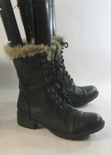 """new Black 1.5""""Block Low Heel Lace Up Front Combat Sexy Ankle Boot WOMEN Size 5"""