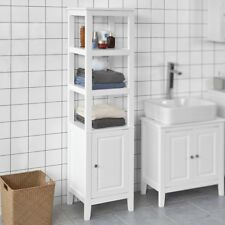 SoBuy® Wood Standing Tall Boy Bathroom Storage Cabinet Unit, White, FRG205-W,UK