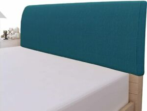 """Easy Going Stretch Bed Headboard Slipcover Cover Peacock Blue Queen 59""""-67"""""""