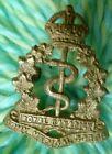 Royal Canadian Army Medical Corps Cap Badge CAST Brass 2 Lugs ANTIQUE Original