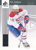 2011-12 SP Game Used Hockey #50 P.K. Subban Montreal Canadiens