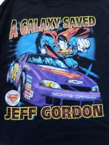 Jeff Gordon Superman XL t-shirt NEW with tags Nascar DC comics 1999