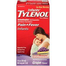 Infants' TYLENOL Acetaminophen Oral Suspension - Grape (1.0 fl oz)