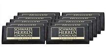 12 x SCHWARZE HERREN EDELBITTER SCHOKOLADE 100 g FROM GERMANY ! GERMAN CHOCOLATE