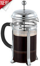 French Press Coffee Maker Leaf Tea Carafe Stainless Steel Filter 34oz Kettle Pot