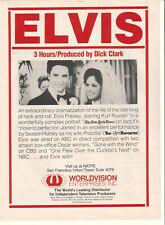 Kurt Russell Season Hubley 1980 AD- Elvis (Presley)  World Vision