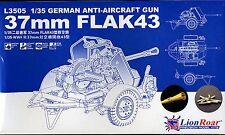 Lion Roar 1/35th Scale German 37mm Flak 43 Kit No. L3505