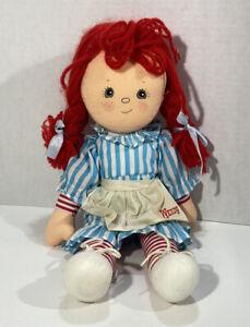 """Wendys International Stuffed Doll 14"""" Dublin Ohio 1985 Fast Food Toy Wendy"""