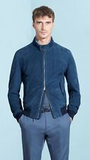 Hugo Boss Mens MERCEDES BENZ Mornas Suede Texture Mix Leather Jacket 50/L £530