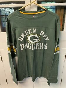 Green Bay Packers Majestic long sleeve shirt Size XL VG