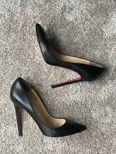 Christian Louboutin Pigalle 120 Black Nappa Kid Leather