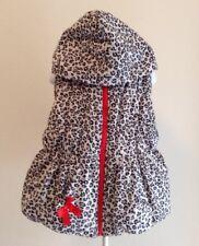 Kid's Headquarters Girl's Sz 6X Black White Animal Print Full Zip Puffer Vest G2