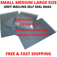 BEST SMALL MEDIUM LARGE SIZE 9X12 10X14 12X16 GREY MAILING POST POSTAL POLY BAGS