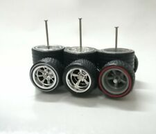 Hot Wheels 1/64 Rubber Wheels Real Riders Dairy Delivery size 12/14mm 3 sets