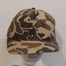 Bull Moose Lodge Nestor Falls ONT Snapback Baseball Truckers Dad Hat Cap