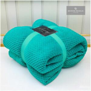 LUXURY POPCORN WAFFLE BLANKET FLEECE TRAVEL THROW SOFA BED WARM COSY EXTRA LARGE