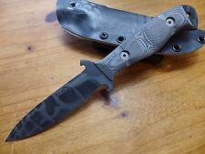 Dawson Knives Raider 4 - Black Adder - Black Micarta - Kryptek Typhon Sheath