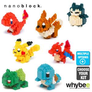 Nanoblock Pokemon Series Pikachu & More Mini Micro Building Blocks Age 12 Years+